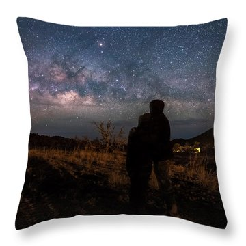 Loveing The  Universe Throw Pillow by Eti Reid