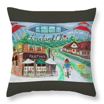 Loveland Ohio Throw Pillow by Diane Pape