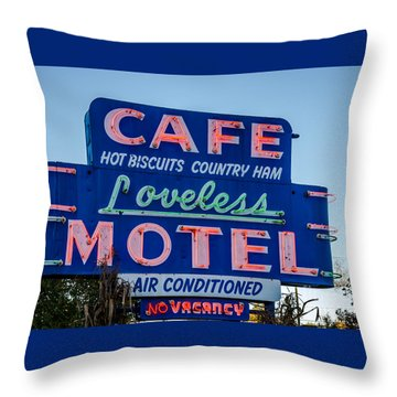 Loveless Cafe And Motel Sign Throw Pillow