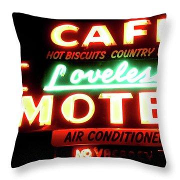 Loveless Cafe- Art By Linda Woods Throw Pillow