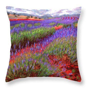 Lovelock's Lavender Throw Pillow