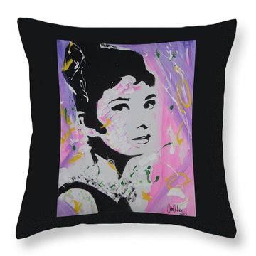 Lovely Audrey Throw Pillow
