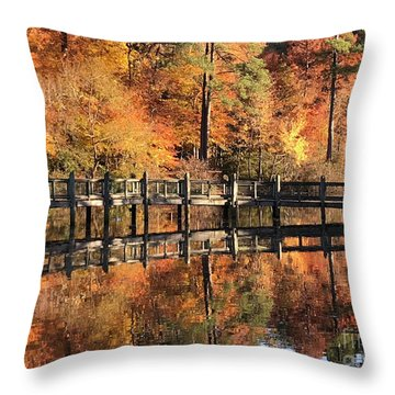 Lovely Autumn Day Throw Pillow