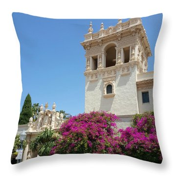 Lovely Blooming Day In Balboa Park San Diego Throw Pillow