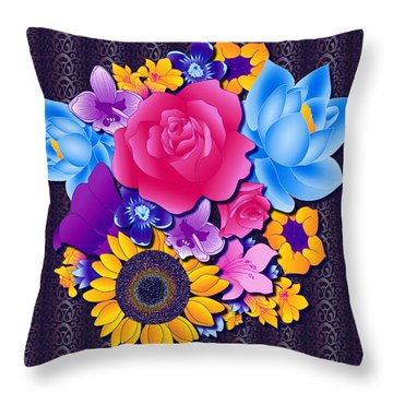 Lovely Bouquet Throw Pillow by Samantha Thome