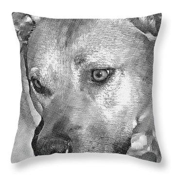Lovely Dog Throw Pillow