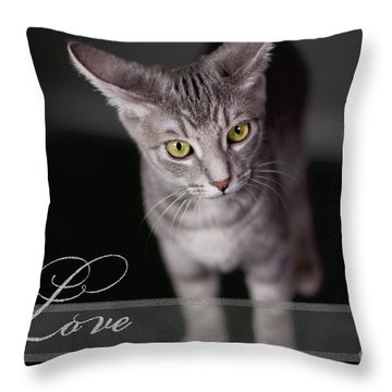 Lovely Face Card Throw Pillow