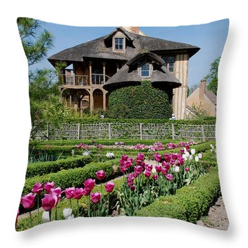 Lovely Garden And Cottage Throw Pillow