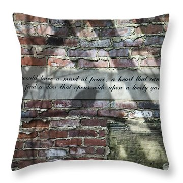 Lovely Garden Wall Throw Pillow