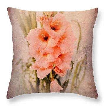 Lovely Gladiolus Throw Pillow