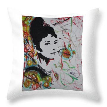 Lovely Hepburn Throw Pillow