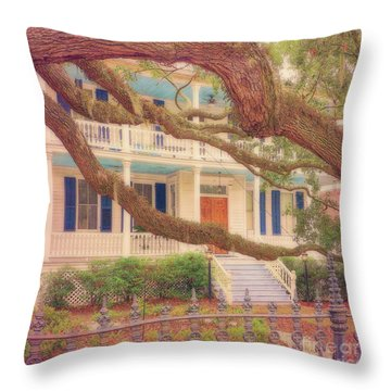 Lovely Old South Throw Pillow