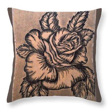 Lovely Rose Throw Pillow