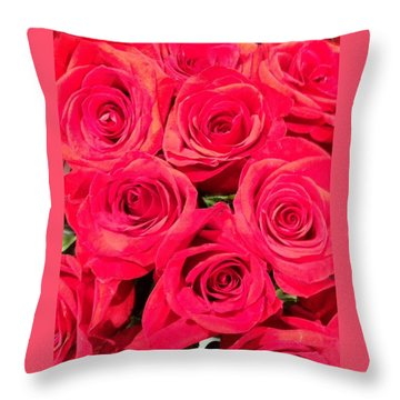 Lovely Roses Throw Pillow by Alohi Fujimoto