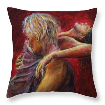 Lovere In Red  Throw Pillow