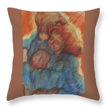 Lovers Embrace Throw Pillow