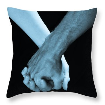 Lovers Hands Throw Pillow