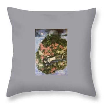 Lovers In The Lilacs Throw Pillow by Marc Chagall
