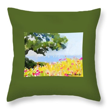 Lover's Lane, Rockport, Ma Throw Pillow