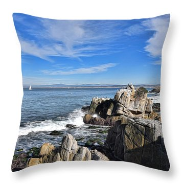 Lovers Point Park Throw Pillow by Gina Savage
