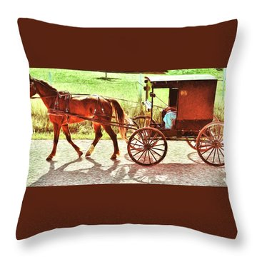 Lovers Red Pony Throw Pillow