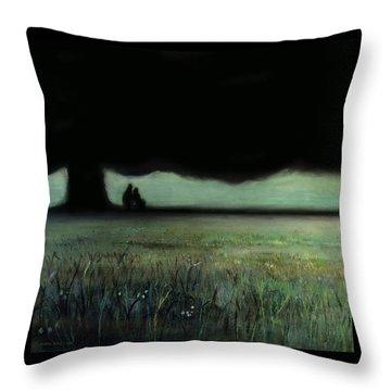 Lovers Tree Throw Pillow by Antonio Ortiz