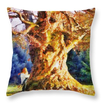 Lovers Tree Throw Pillow by Jai Johnson