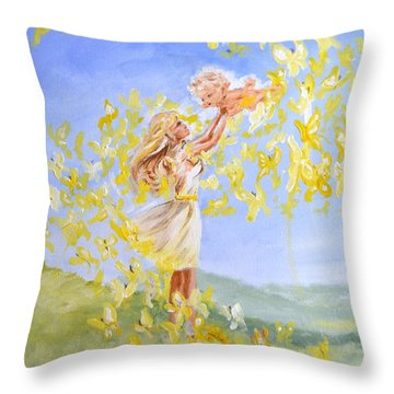Love's Flight Throw Pillow