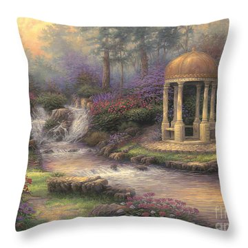 Love's Infinity Garden Throw Pillow