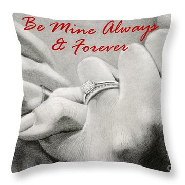 Love's Promise- Valentine Cards Throw Pillow