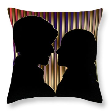 Throw Pillow featuring the digital art Loving Couple - Chuck Staley by Chuck Staley