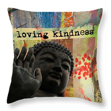 Loving Kindness. Buddha Throw Pillow