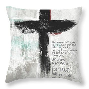 Loving Kindness Cross- Art By Linda Woods Throw Pillow
