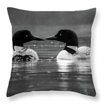 Loving Loons Throw Pillow