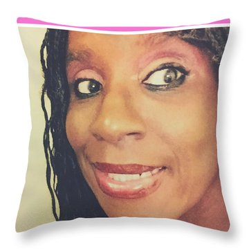 Loving My Beauty Throw Pillow
