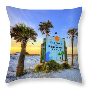 Loving Pensacola Beach Throw Pillow