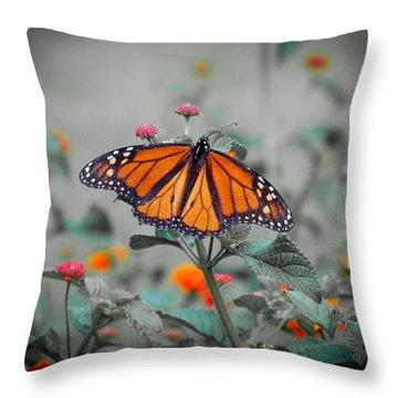 Loving The Lantana  Throw Pillow
