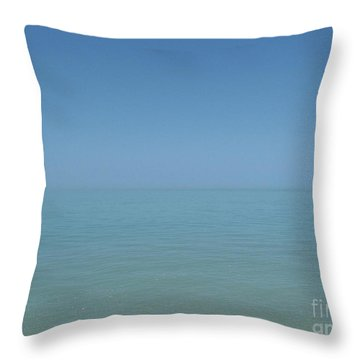 Loving Union Of Sky And Ocean Throw Pillow