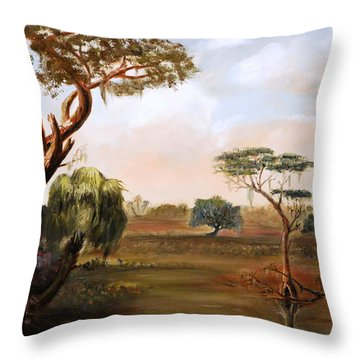 Low Country Swamp Throw Pillow by Phil Burton