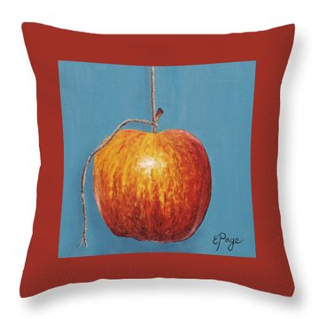 Low Hanging Apple Throw Pillow by Emily Page