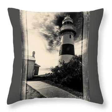 Low Head Lighthouse Throw Pillow