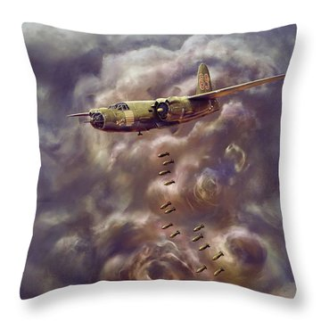 Low Level Attack Throw Pillow by Dave Luebbert