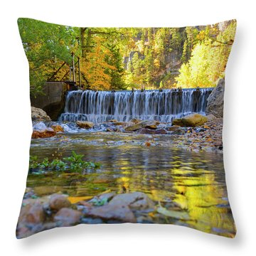 Low Look At The Falls Throw Pillow