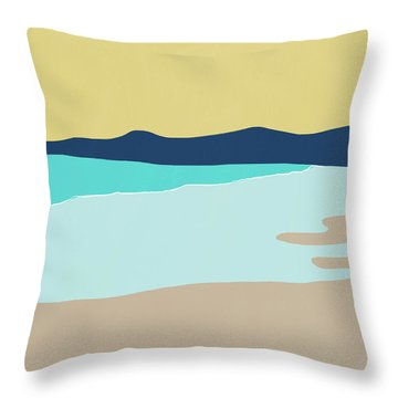 Low Tide- Art By Linda Woods Throw Pillow