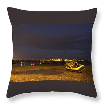 Low Tide At Dusk Throw Pillow by Hazy Apple