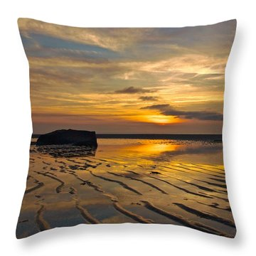 Low Tide At Mayflower Beach Throw Pillow