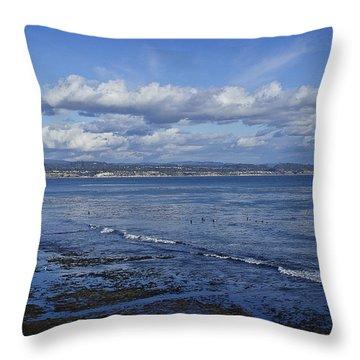 Low Tide At The Hook, Santa Cruz Ca Throw Pillow