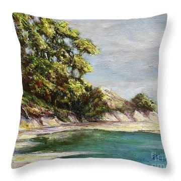 Low Tide Beach Throw Pillow
