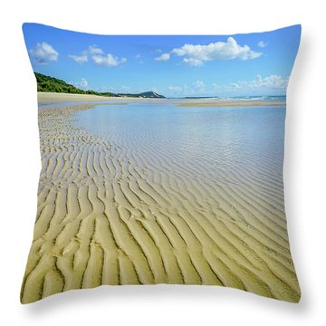 Low Tide Beach Ripples Throw Pillow