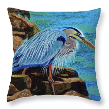 Low Tide Fisherman Throw Pillow